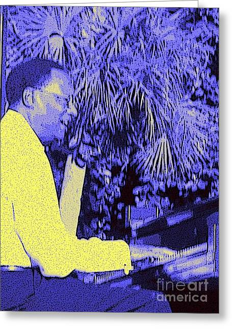 Ramsey Lewis Concert 2007 Greeting Card by Barbie Corbett-Newmin