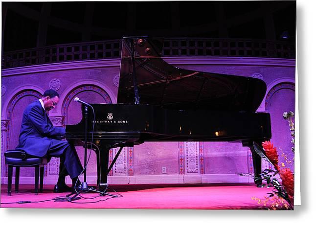 Ramsey Lewis Pianist Greeting Card by Robert Klemm