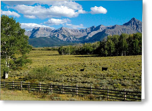 Geobob Greeting Cards - Ranch Highway 62 Ridgway Colorado Greeting Card by Robert Ford