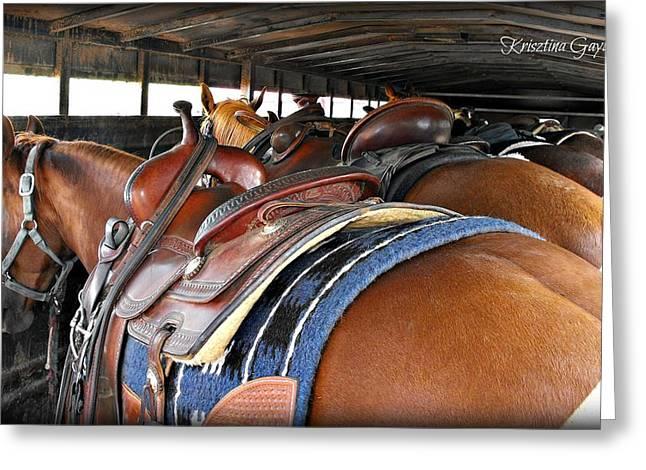 Ranch Pyrography Greeting Cards - Ranch Horse Life Greeting Card by Krisztina  Gayler