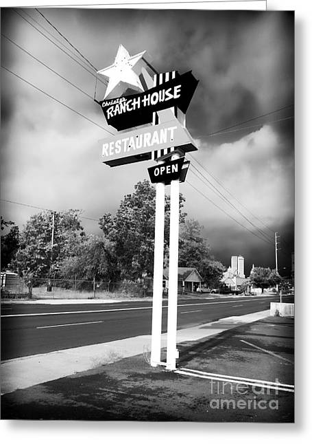 Main Street Greeting Cards - Ranch House Greeting Card by John Rizzuto