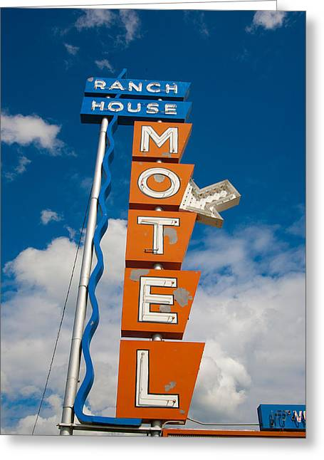 Nostalgic Sign Greeting Cards - Ranch House Motel Montana Greeting Card by Matthew Bamberg