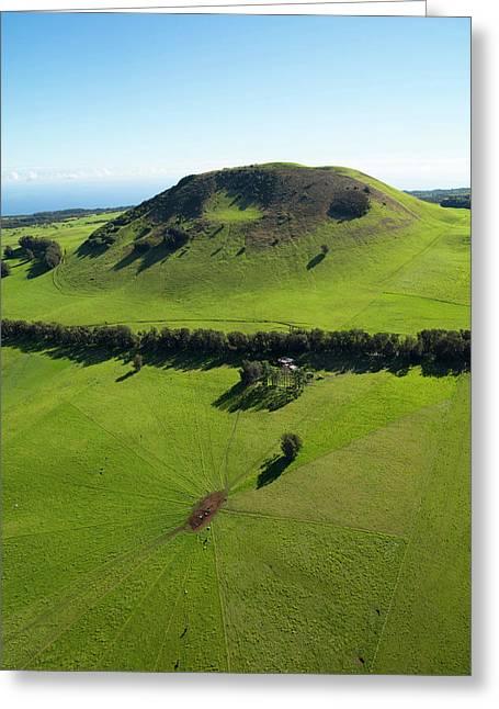 Ranch Land, Kohala Mountain Road, Route Greeting Card by Douglas Peebles