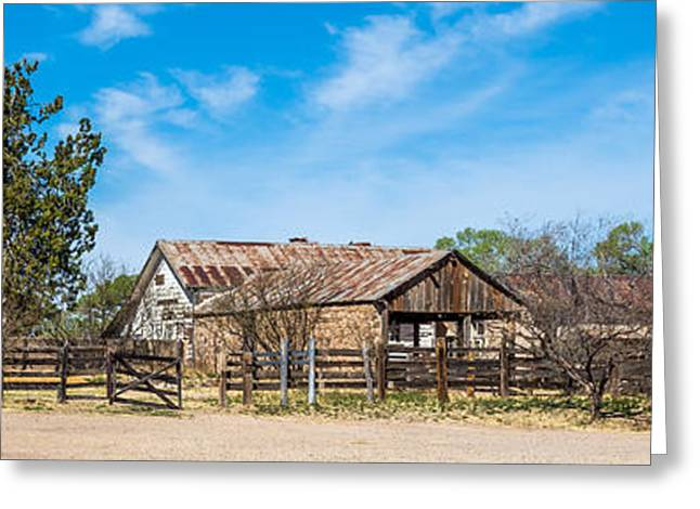 Outbuildings Greeting Cards - Ranch Panorama Greeting Card by Beverly Parks