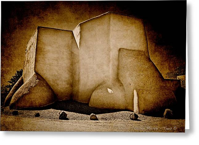 Adobe Greeting Cards - Ranchos church xx Greeting Card by Charles Muhle
