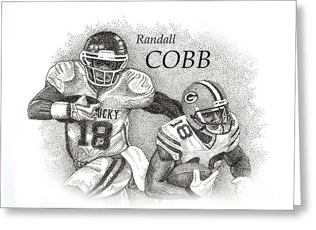 Pen And Ink Wildcat Drawings Greeting Cards - Randall Cobb Greeting Card by Tanya Crum
