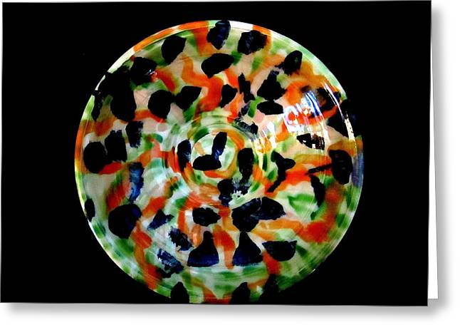 Paint Photograph Ceramics Greeting Cards - Random Pattern Bowl Greeting Card by Martha Nelson