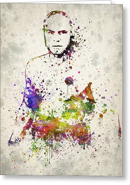 Famous Athletes Greeting Cards - Randy Couture Greeting Card by Aged Pixel
