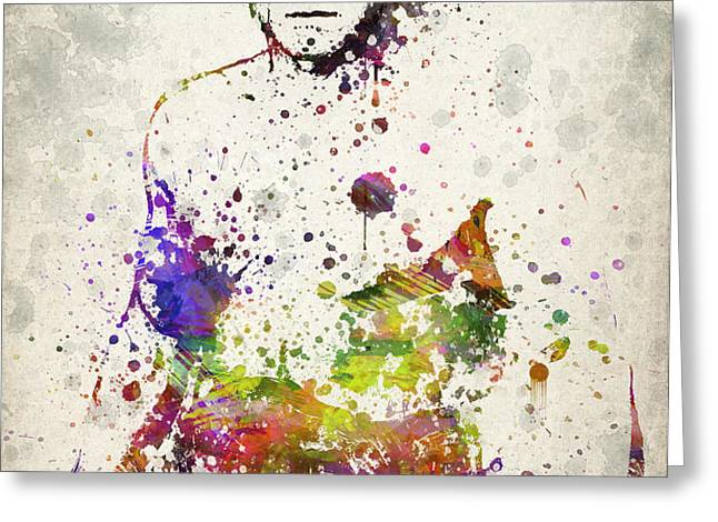 Randy Couture Greeting Card by Aged Pixel