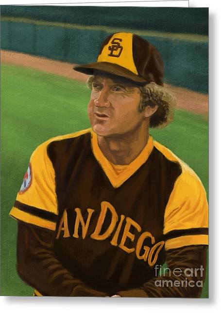 Retired Number Digital Art Greeting Cards - Randy Jones Greeting Card by Jeremy Nash