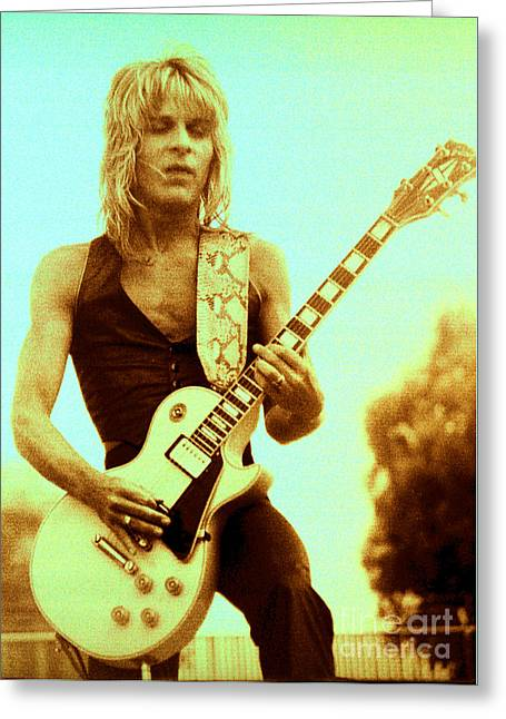 Rock Concerts Greeting Cards - Randy Rhoads Day on the Green Unreleased One Greeting Card by Daniel Larsen