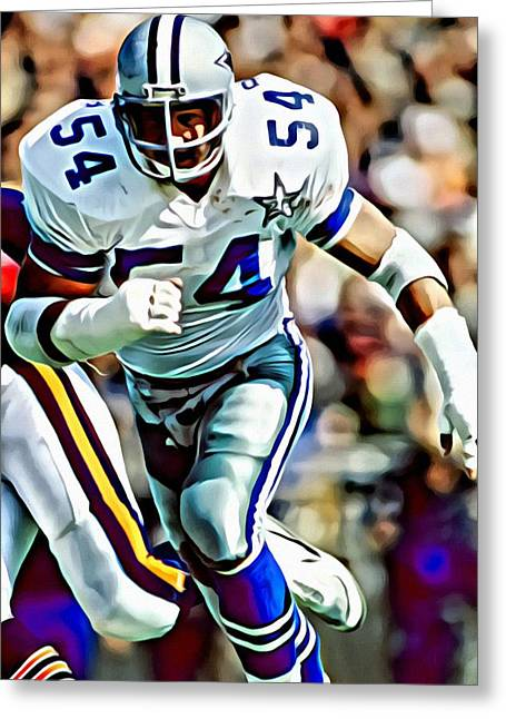 Cowboys Greeting Cards - Randy White Greeting Card by Florian Rodarte