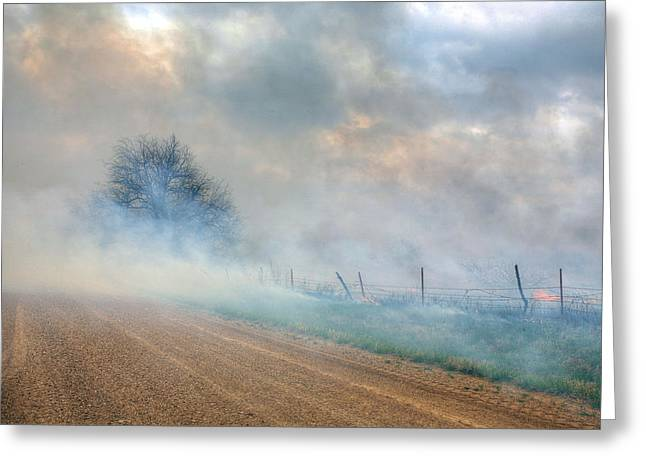 Range Burning Greeting Card by JC Findley