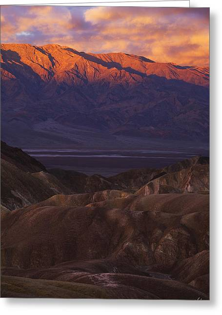 Panamint Valley Greeting Cards - Range of Light Greeting Card by Peter Coskun