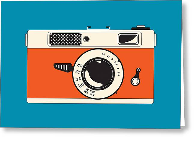 Analog Digital Art Greeting Cards - Rangefinder Film Camera Greeting Card by Igor Kislev