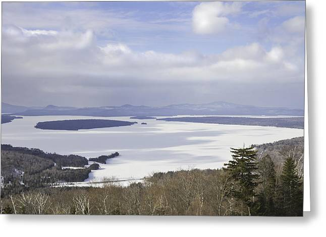 New England Snow Scene Greeting Cards - Rangeley Maine Winter Landscape Greeting Card by Keith Webber Jr