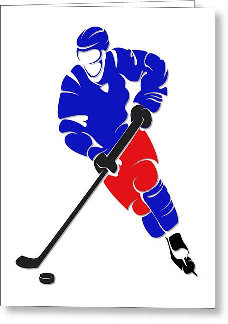 New York Rangers Greeting Cards - Rangers Shadow Player Greeting Card by Joe Hamilton