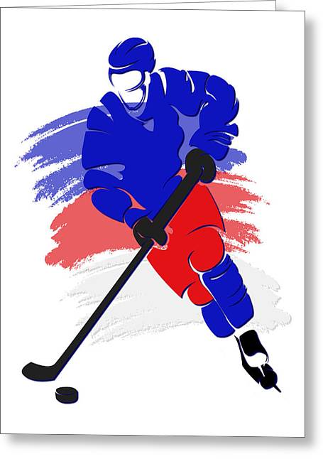 New York Rangers Greeting Cards - Rangers Shadow Player2 Greeting Card by Joe Hamilton
