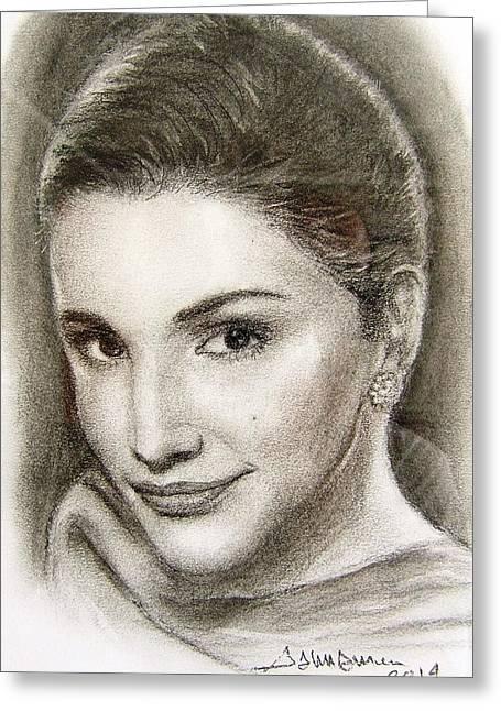 Rania Greeting Card by Salman Ameer