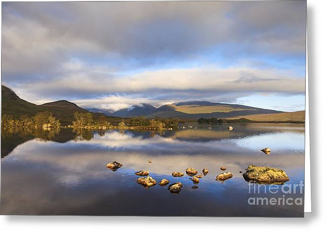 Rannoch Moor Greeting Cards - Rannoch Moor Loch na h-Achlaise Greeting Card by Colin and Linda McKie