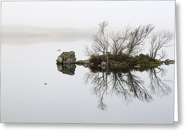 Lochan Greeting Cards - Rannoch Moor Mist Greeting Card by Grant Glendinning