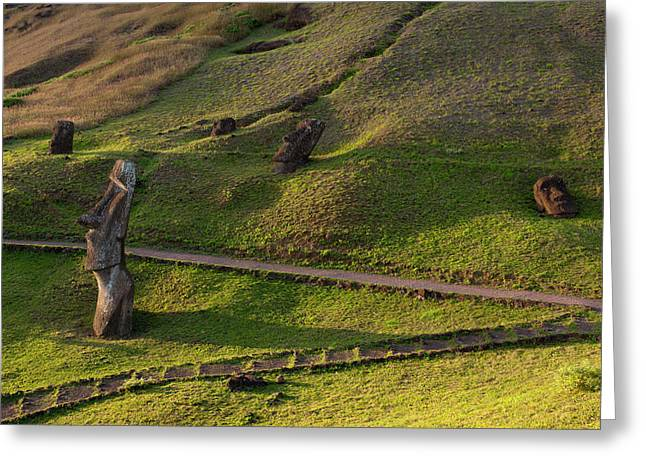 Rano Raraku, Rapa Nui, Easter Island Greeting Card by Sergio Pitamitz
