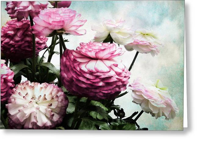 Floral Digital Art Digital Art Greeting Cards - Ranunculus in Bloom Greeting Card by Jessica Jenney