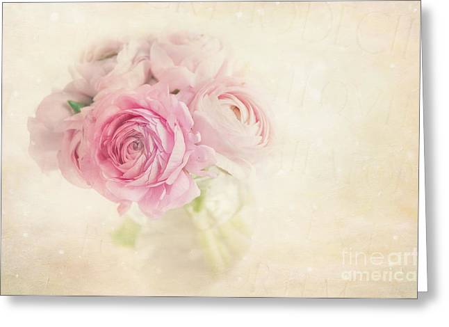 """soft Focus"" Greeting Cards - Ranunculus Greeting Card by Marion Galt"