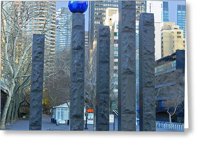 Fdr Drive Greeting Cards - Raoul Wallenberg Memorial - NYC Greeting Card by Emmy Marie Vickers
