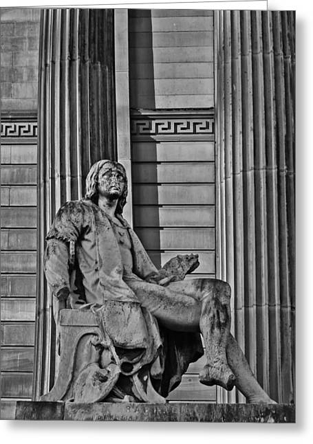 Vintage Painter Greeting Cards - Raphael outside the Walker in black and white Greeting Card by Nomad Art And  Design