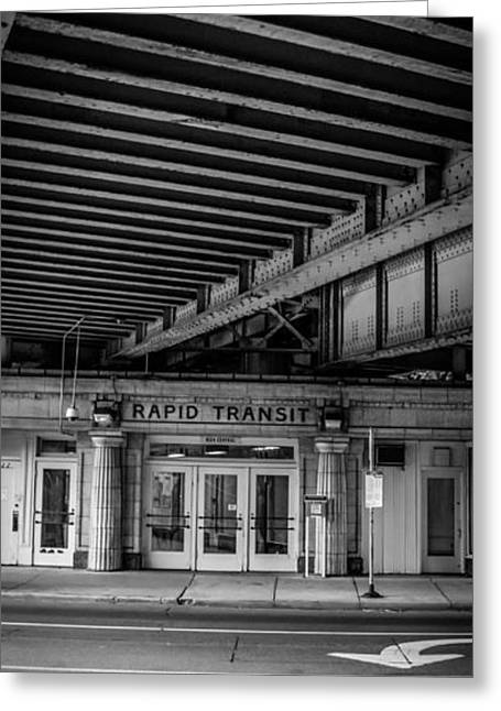 Metra Greeting Cards - Rapid Transit Greeting Card by Mike Burgquist