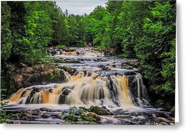Roaring Falls Greeting Cards - Rapids Greeting Card by Paul Freidlund