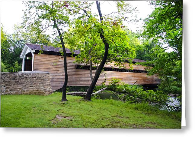 Rapps Covered Bridge Over French Creek Greeting Card by Bill Cannon
