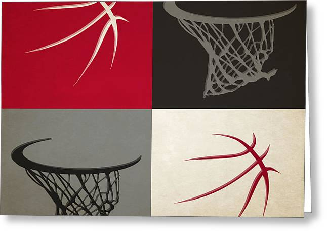 Dunk Greeting Cards - Raptors Ball And Hoop Greeting Card by Joe Hamilton