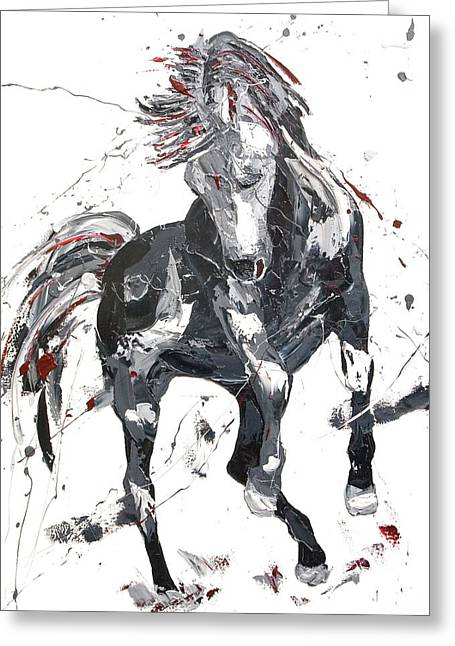 Wild Horse Greeting Cards - Rapture  Greeting Card by Penny Warden