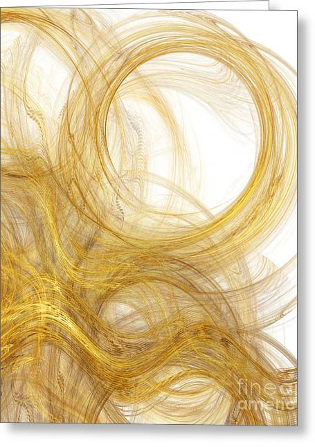 Precious Metals Greeting Cards - Rapunzel Hair 2 Greeting Card by Andee Design