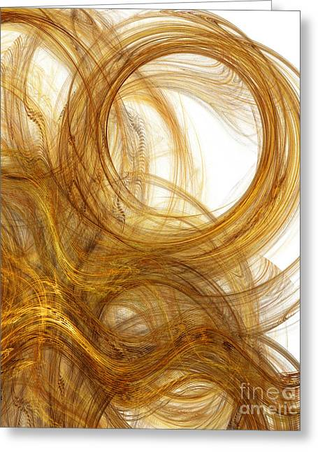 Precious Metals Greeting Cards - Rapunzel Hair 3 Greeting Card by Andee Design