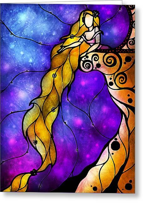 Rapunzel Greeting Card by Mandie Manzano