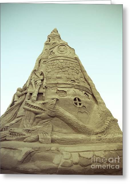 Sandcastle Greeting Cards - Rapunzels Sandcastle Greeting Card by Colleen Kammerer