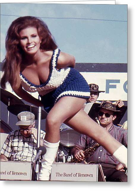 Division Greeting Cards - Raquel Welch Greeting Card by Norman Johnson