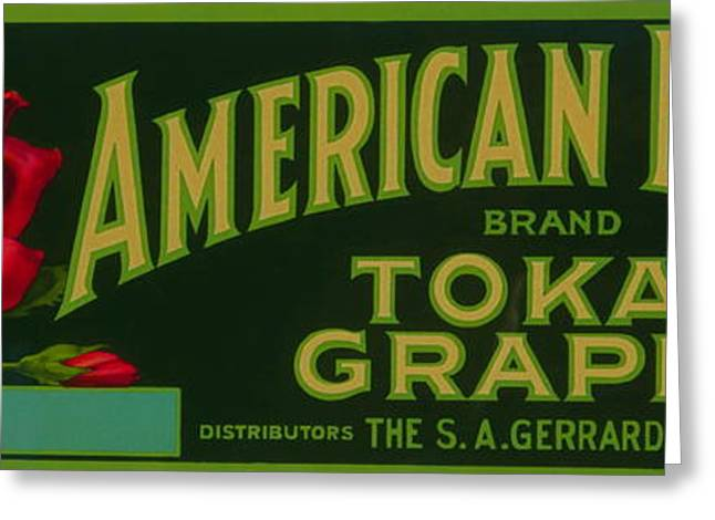 Labelled Greeting Cards - Rare Antique Food Package Label Photographed. Greeting Card by Robert Birkenes