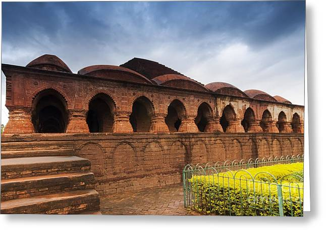 Asia Greeting Cards - Rasmancha Temple Bishnupur India Greeting Card by Rudra Narayan  Mitra