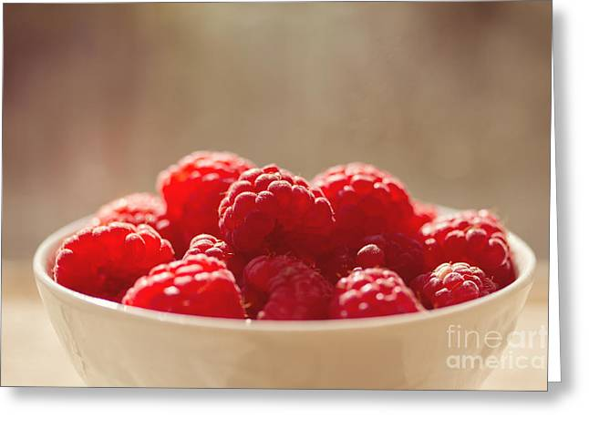 Raspberries Greeting Cards - Raspberries  Greeting Card by Diana Kraleva