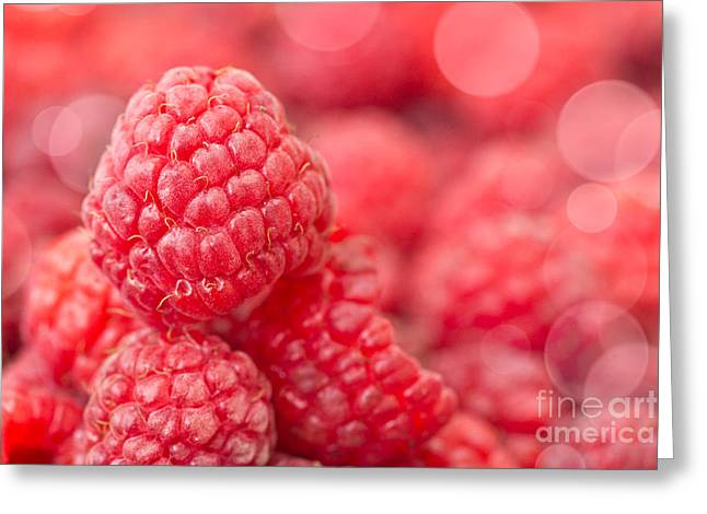 Fresh Food Photographs Greeting Cards - Raspberry Greeting Card by Delphimages Photo Creations