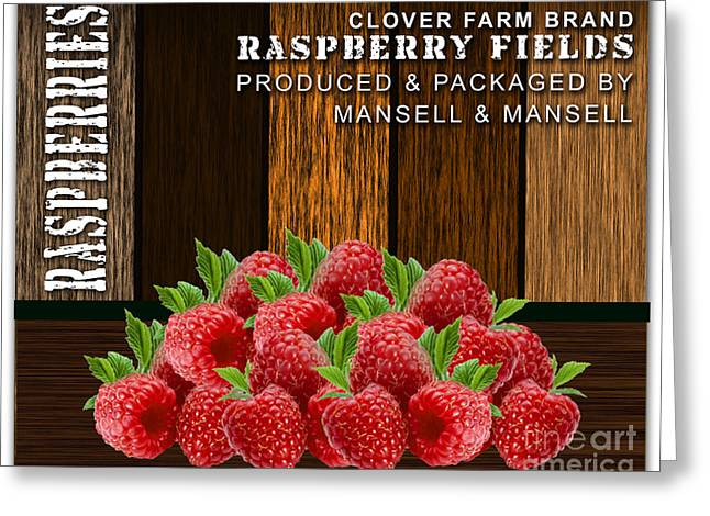 Raspberry Fields Forever Greeting Card by Marvin Blaine
