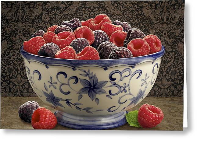 Produce Digital Art Greeting Cards - Raspberry Still life Greeting Card by Danny Smythe