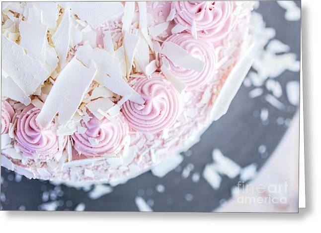 Shaving Greeting Cards - Raspberry White Chocolate Cake Greeting Card by Edward Fielding