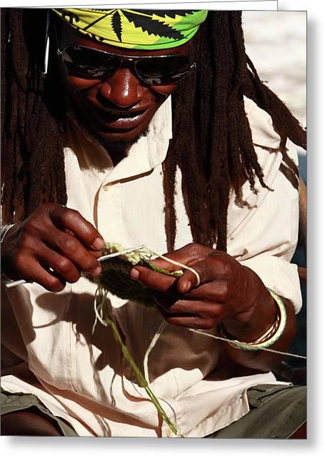 Rasta Man Greeting Card by Aidan Moran