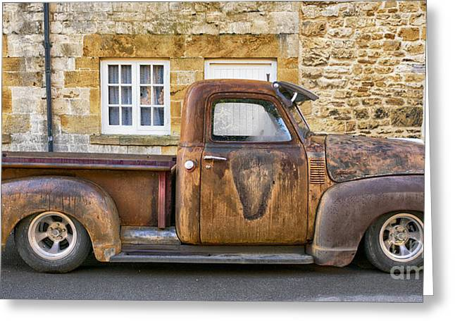 Chevrolet 3100 Greeting Cards - Rat Chevrolet 3100 Pickup Greeting Card by Tim Gainey