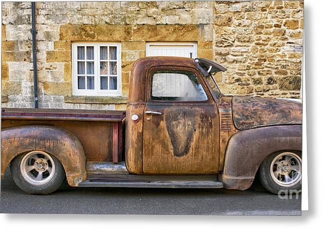 General Motors Company Greeting Cards - Rat Chevrolet 3100 Pickup Greeting Card by Tim Gainey